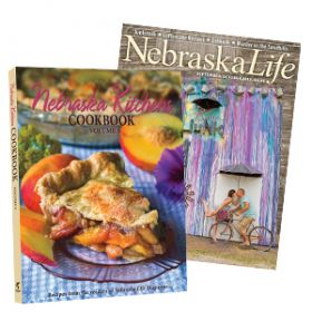Combo - Nebraska Kitchens Cookbook Vol. 3 + 1-yr Subscription