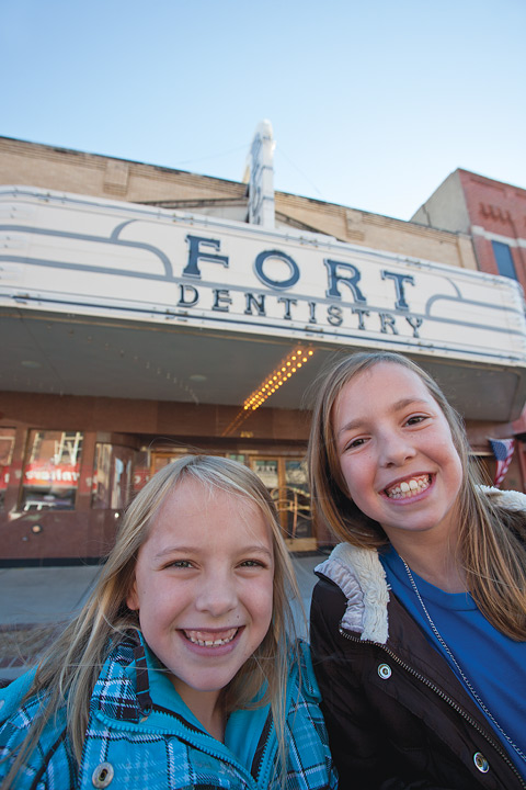 Dentist Walter Martin's office is inside a former movie theater.