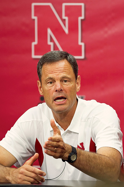 Since the late 1970s, UNL has soared as a volleyball power. Coach John Cook is focused on the national crown.